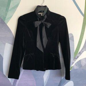 Diane von Furstenburg velvet jacket with tie